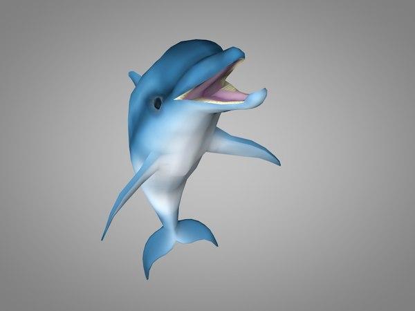 3D model dolphin