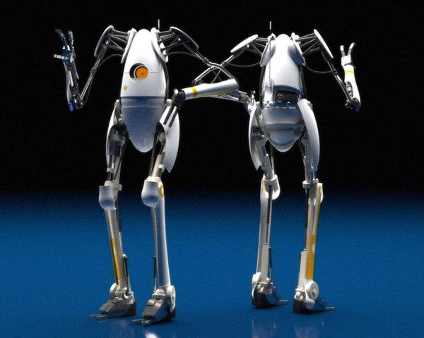 p body portal 2 3D model