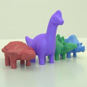 cute dinos toys 3D model