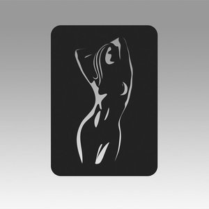 3D model logo girl