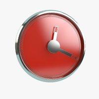 clock magnet 3D model