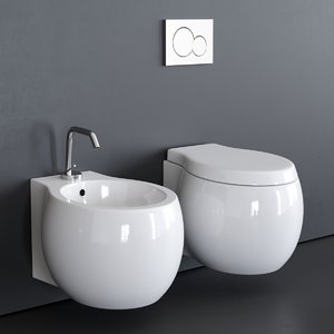 3D wall-hung toilet planet 8105 model