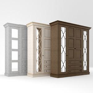 warderobe wood 3D