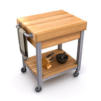 3D kitchen cutting block cart