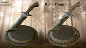metalness knife 3D model