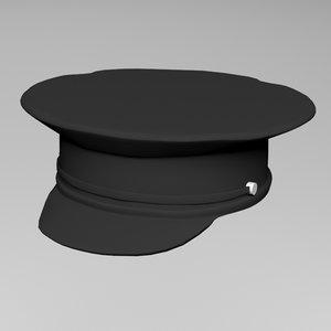 police hat uniform 3D model