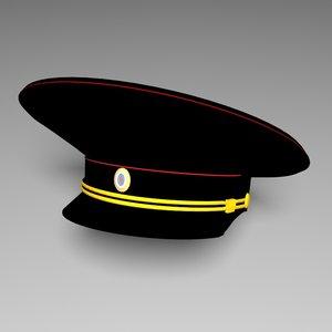 police hat russian 3D model