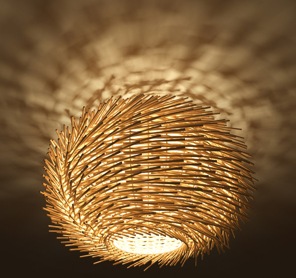 3D rattan lamp lights model