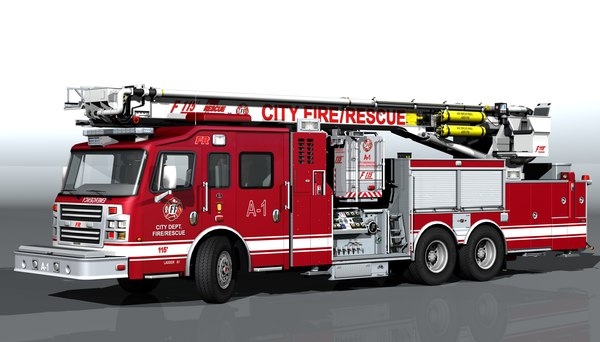 3D model special vehicle fire-rescue t-rex