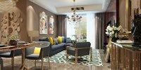 living room interior scene 3D