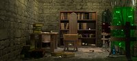 3D model old laboratory room