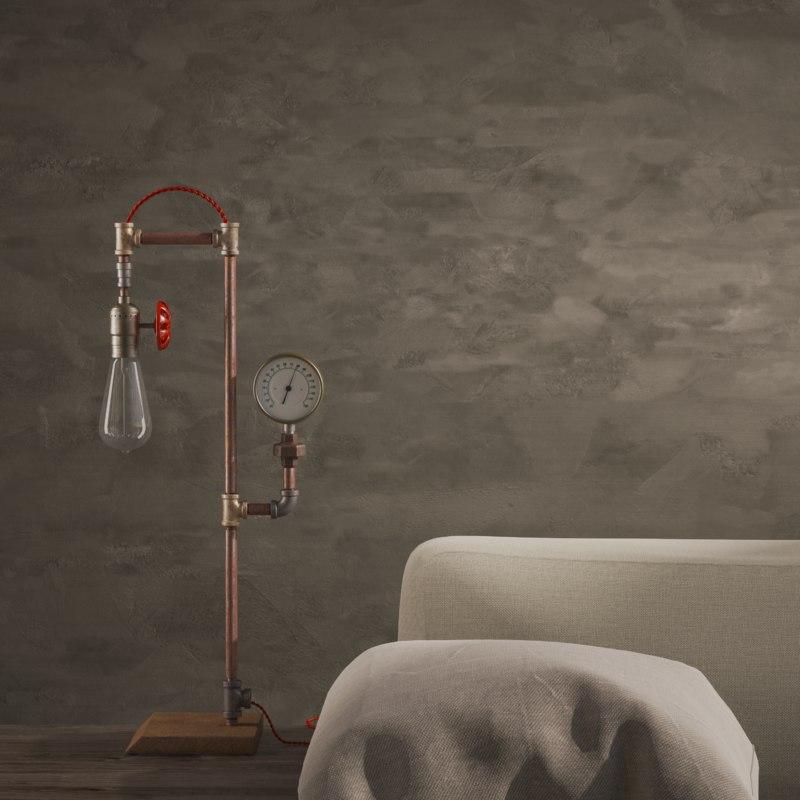 3D steam lamp