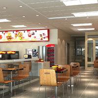 3D model fast food restaurant