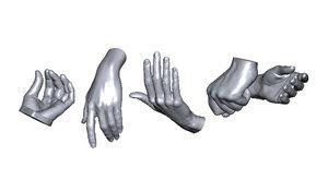 3D model scan hands