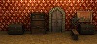 ancient medieval castle interior 3D