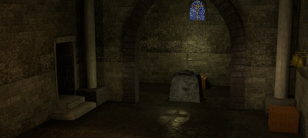 3D church interior model