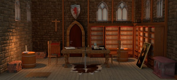 3D interior castle