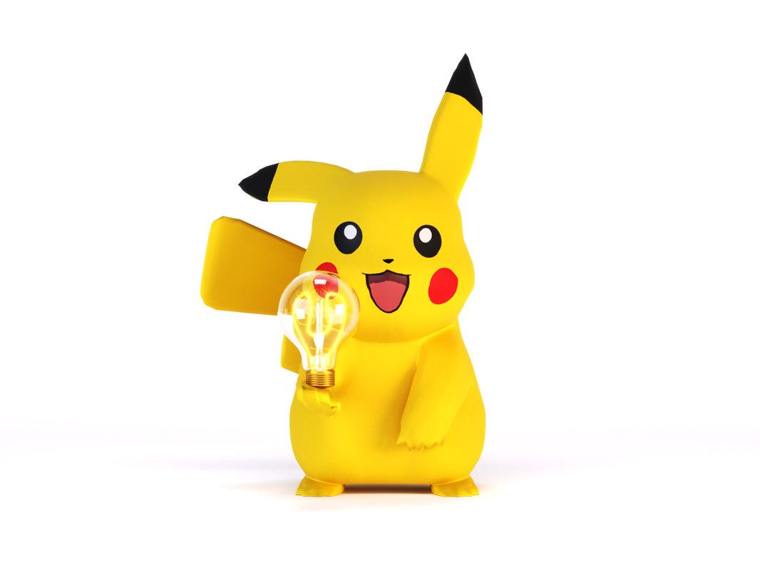 pokemon lamp pikachu 3D model