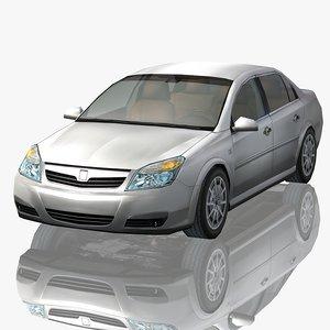 3D generic sedan car details