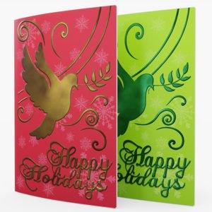 christmas cards 3D model