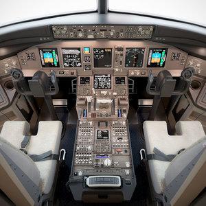 boeing 777 cockpit 3D model