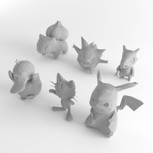 3D model pokemon pack ready games