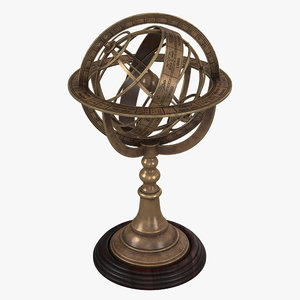 armillary sphere model