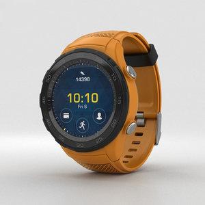 3D huawei 2 watch