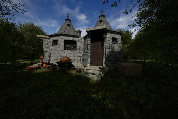 hagrid hut 3D