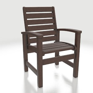 polywood dining chair 1910-te 3D model
