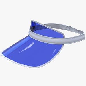 poker sun visor cap 3D model