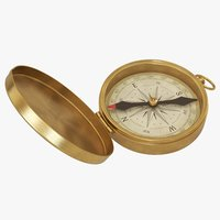 3D retro compass model