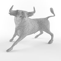 Low Poly Bull Taurus Animal Lowpoly 2 Low-poly 3D model