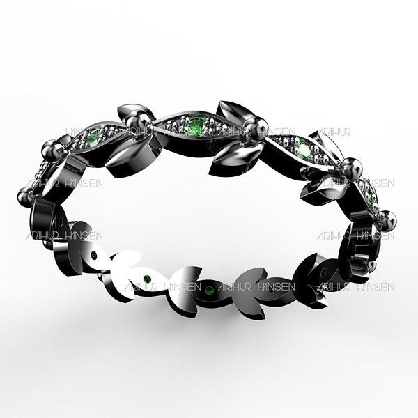 3D bezel trefoil band