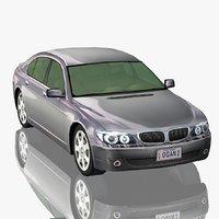3D model generic sedan car luxury