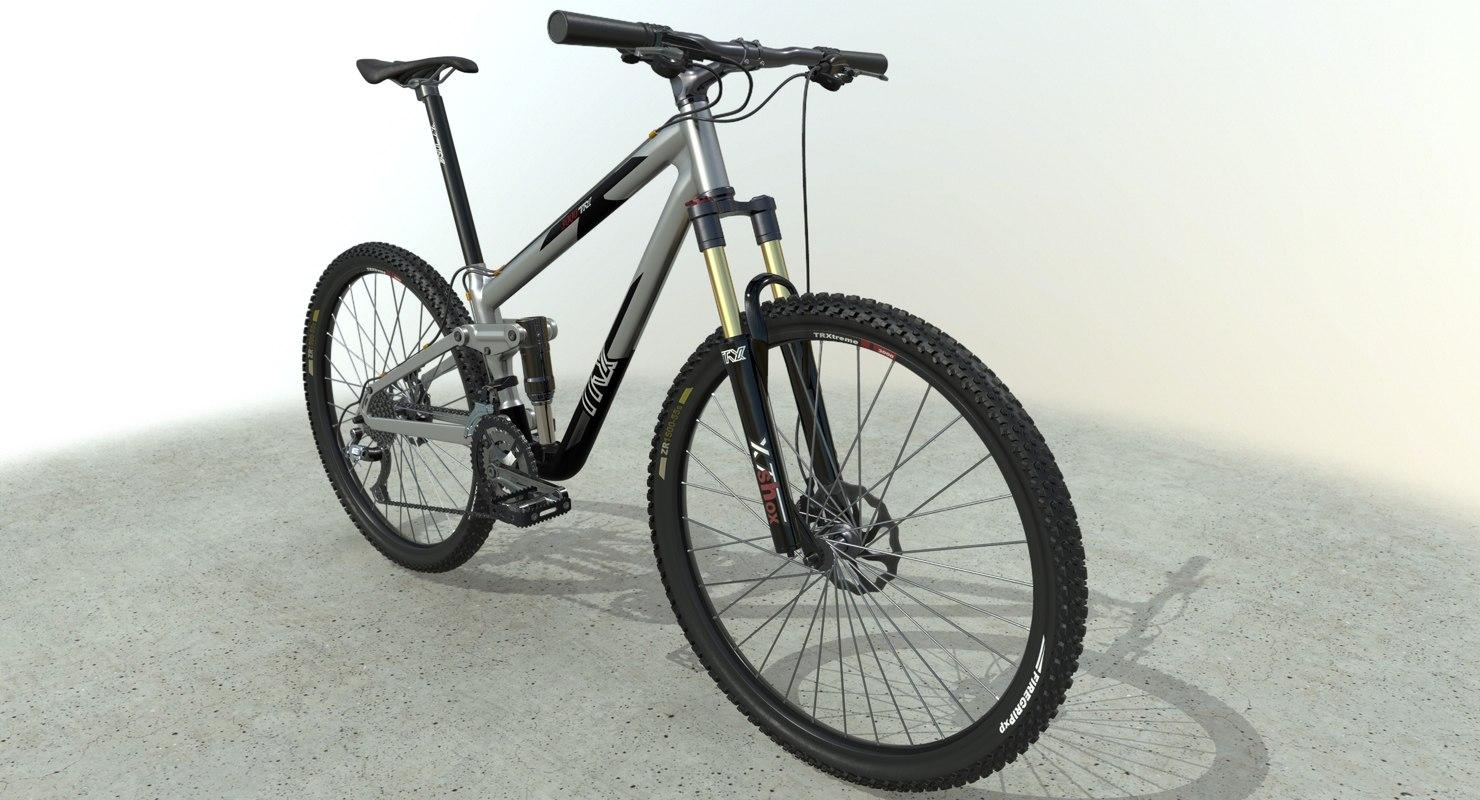 3D mountain bike pbr model
