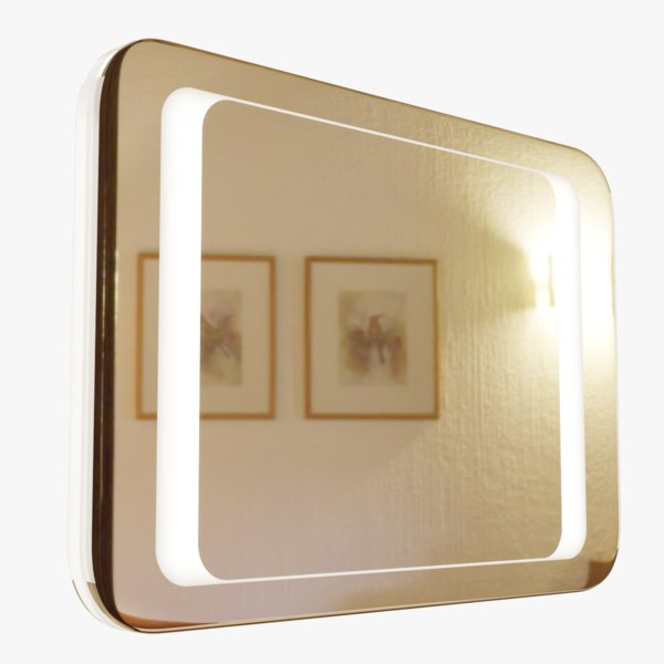 modern two-sided mirror 3D