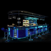 3D bar counter night club