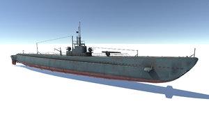 3D old submarine model