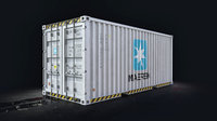 MAERSK 20 Cargo Container Low-poly 3D model
