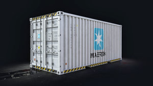 maersk 20 cargo container 3D model
