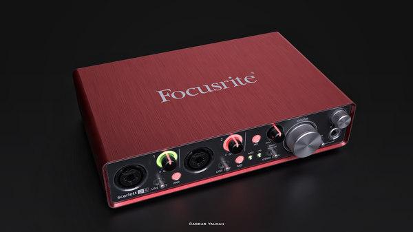 3D model focusrite scarlett 2i4