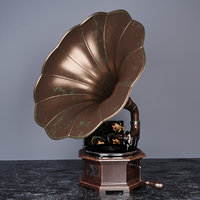 3D model gramophone phonograph