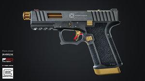 3D model custom glock