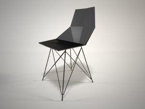 faz chair steel base 3D model