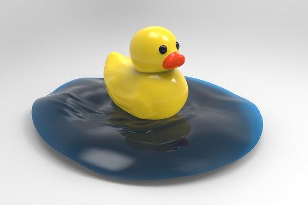 3D model duck toy