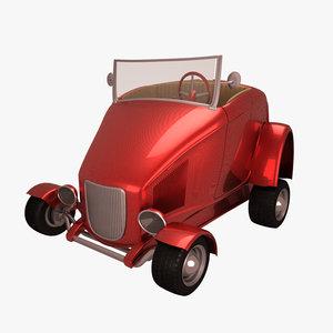 antique cartoon car model