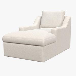 3D chaise longue clandon model