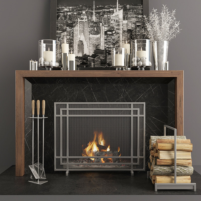 3D fireplace decor