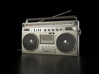 3D sharp radio cassette recorder model